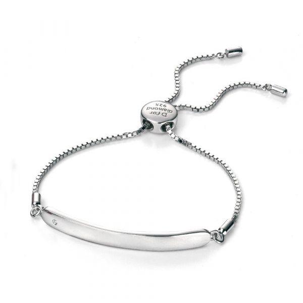 D For Diamond Diamond Chain ID Bracelet