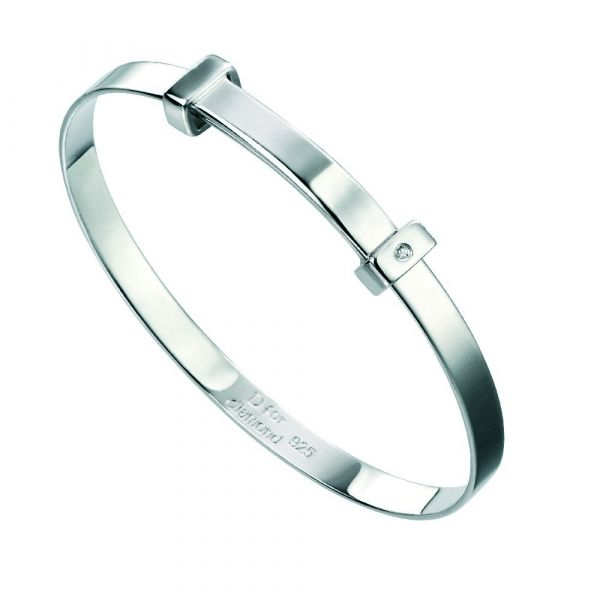 D For Diamond Blank Baby Bangle