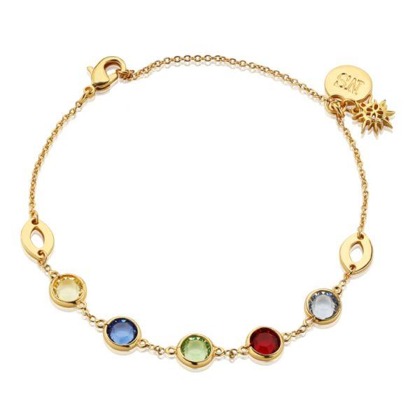 Newbridge Silver Bracelet with Multi Coloured Stones