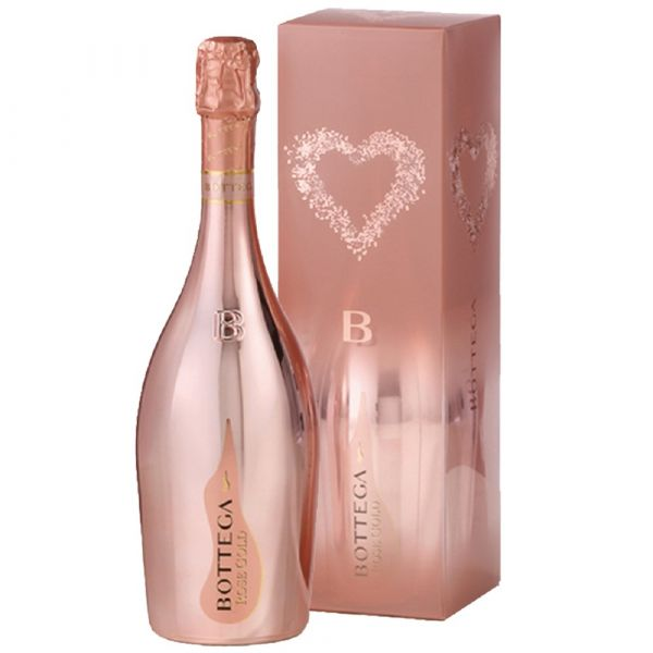 Prosecco Spumante Gold Rose Gift Pack 75cl