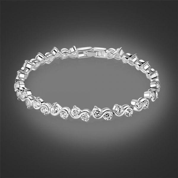 Newbridge Silver Bracelet Clear Stone