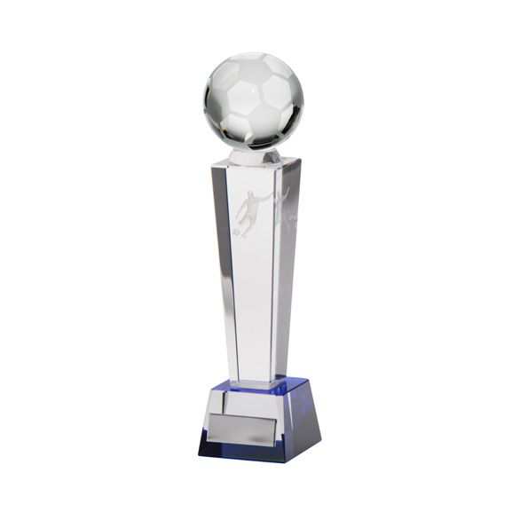 Legend Tower Crystal Football Award 220mm