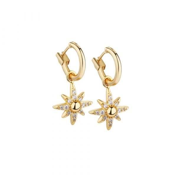 Newbridge Silver Star Earrings