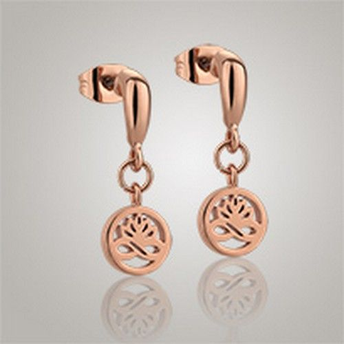 Newbridge Silver Rose Gold Plated Stud Earrings Clear