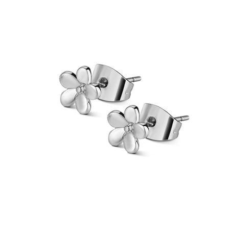 Newbridge Silver Flower Stud Earrings