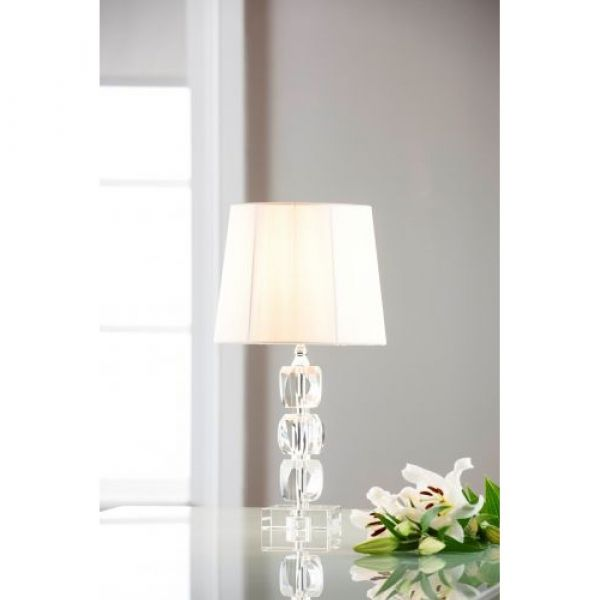 Galway Crystal Facet Small Lamp & Shade