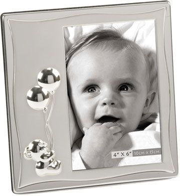 Teddy Holding Balloons 4x6 Baby Frame