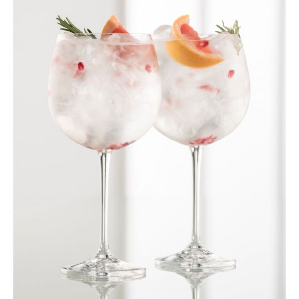 Galway Crystal Pair Gin Goblets