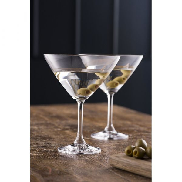 Galway Crystal Boxed Pair Martini / Cocktail Glasses
