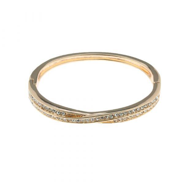 Indulgence Gold & Diamante Bangle