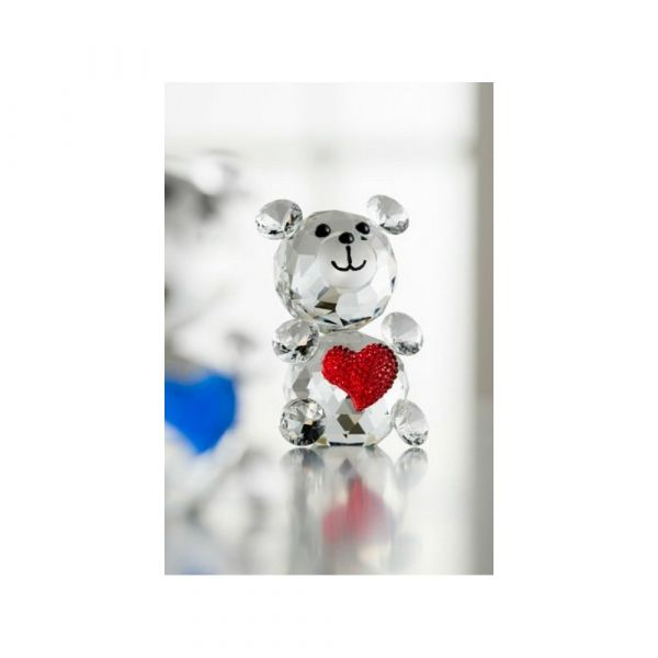 Galway Crystal Love Bear Pink Heart