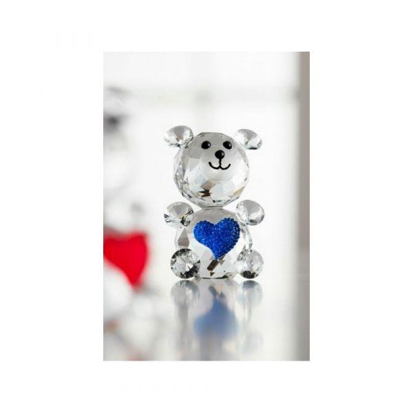 Galway Crystal Love Bear Blue Heart