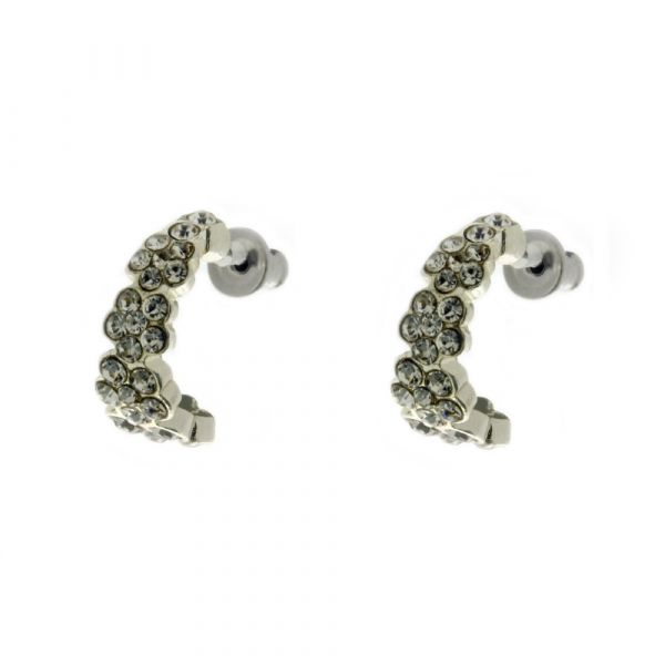 Indulgence Half Hoop Flower Earrings