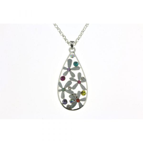 Indulgence Multi Coloured Crystal Pendant