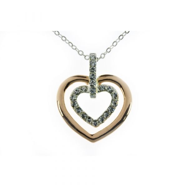 Indulgence Rose Gold & Silver Heart Pendant