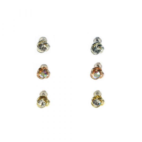 Indulgence Set of 3 Stud Earrings