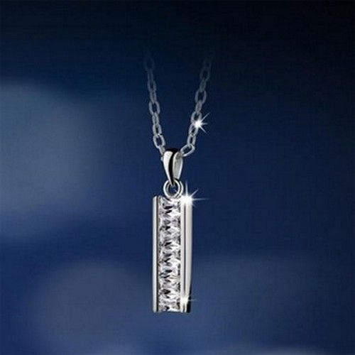 Newbridge Silver Bar Pendant Clear