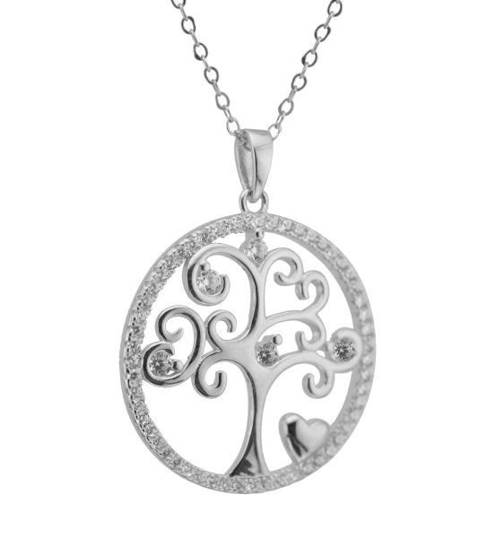 Kilkenny Silver Sterling Silver Tree of Life Pendant & Gift Box