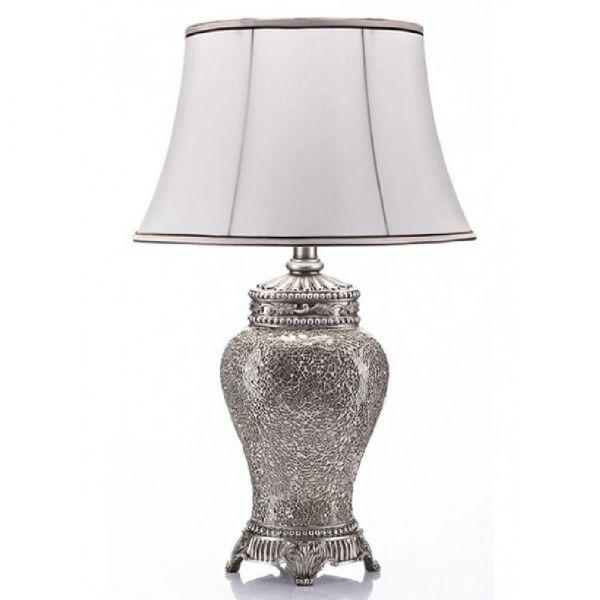 Elegance Ivory Crackle Table Lamp & Shade 73cm