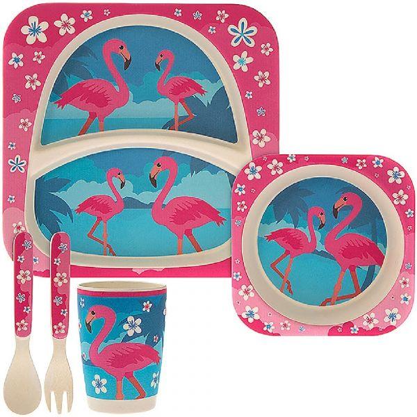 Bamboo Eco Baby Set Flamingo (5 Piece Set)