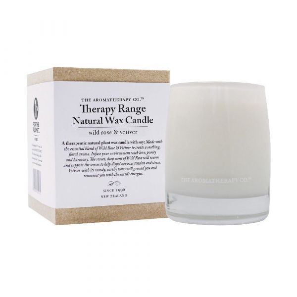 THERAPY 260G SCENTED CANDLE WILD ROSE & VETIVER