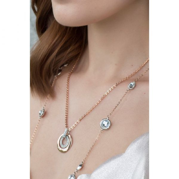 Absolute Jewellery Two Tone Necklace (Rose & Silver)