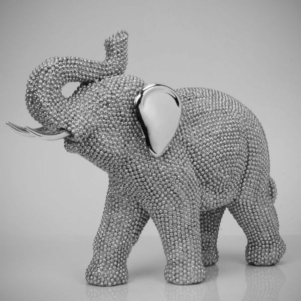 DIAMANTE ELEPHANT FIGURINE 19CM