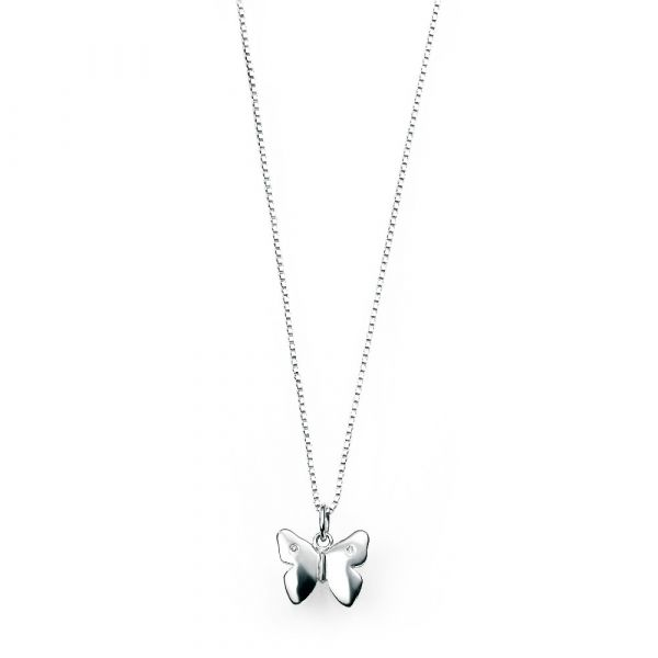 D For Diamond Butterfly Pendant