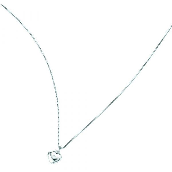 D For Diamond Medium Heart Locket Pendant