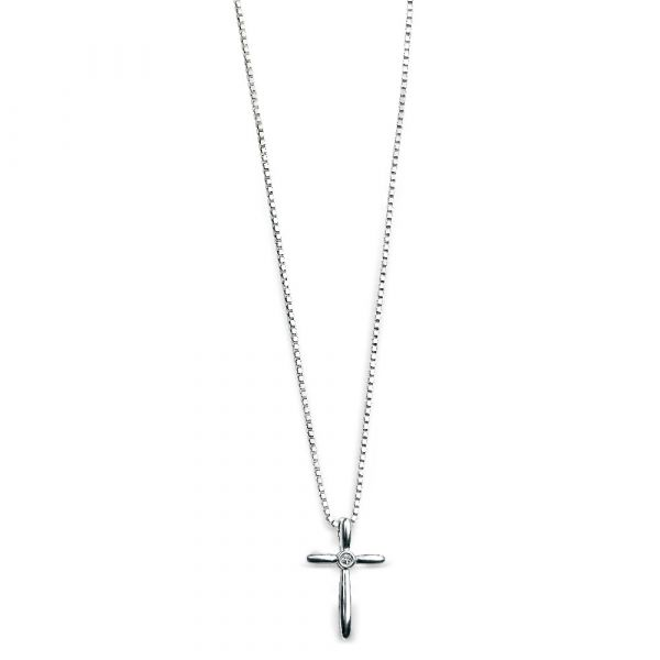 D For Diamond Cross Pendant