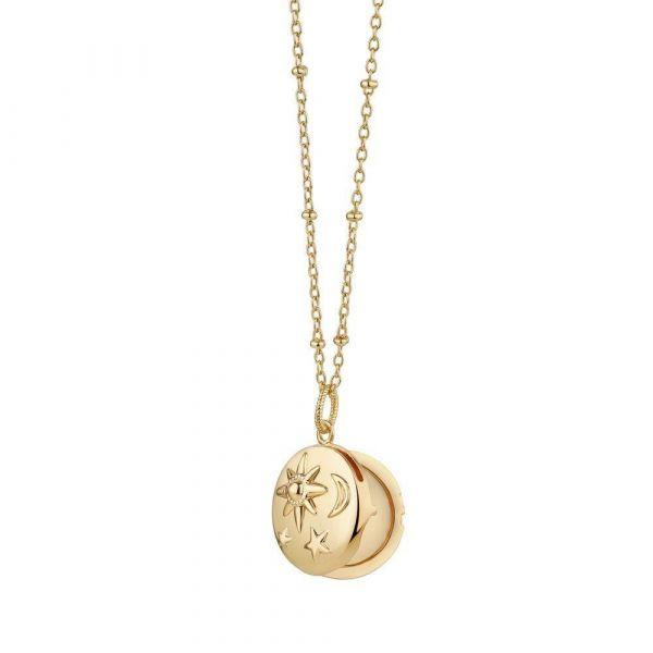 Newbridge Necklace Locket with Sun Moon & Stars
