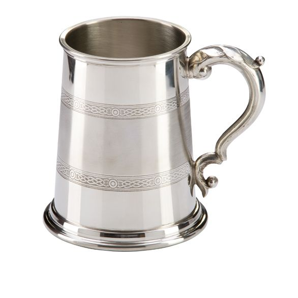 The Celtic Band Pewter Tankard 125mm 1pt