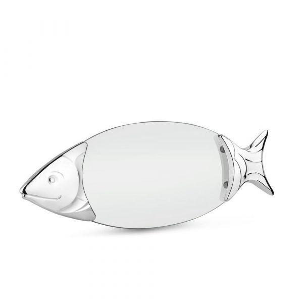 Newbridge Silver Chromeplated Glass Salmon Tray