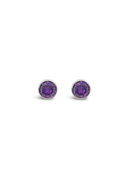 Absolute Jewellery Silver Birthstone Earring