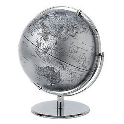 Silver World Globe 20cm