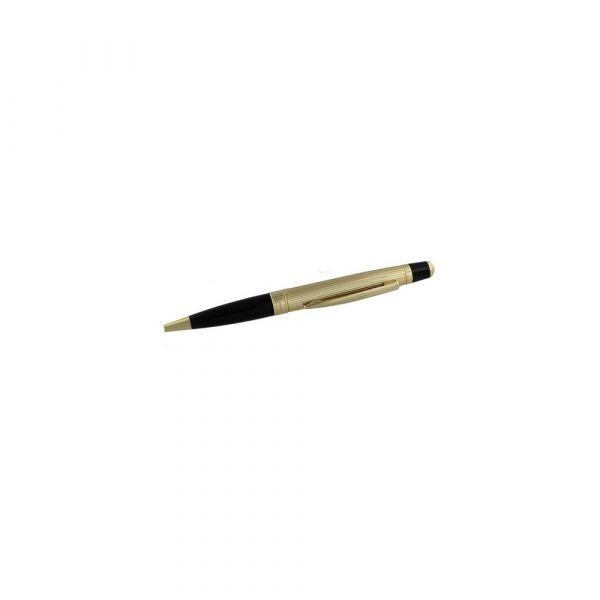 Stratton Biro Pen - Black & Gold