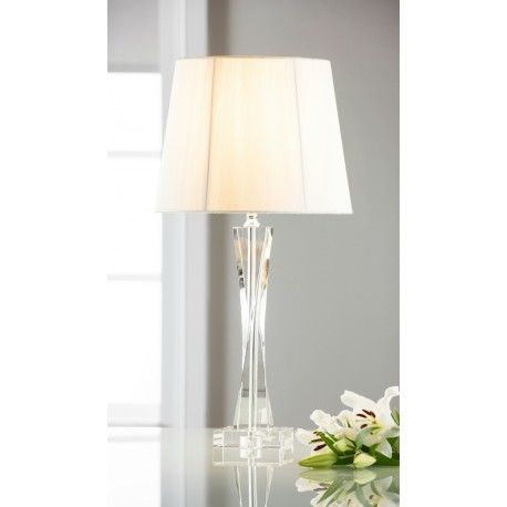 Galway Crystal Twist lamp & White Shade