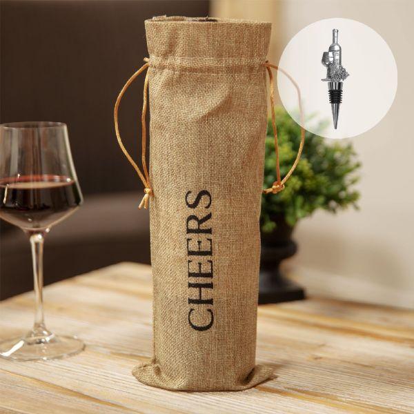 Bottle Bag & Wine Stopper