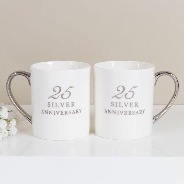 25th Anniversary China Mugs