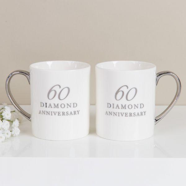 60th Anniversary China Mugs