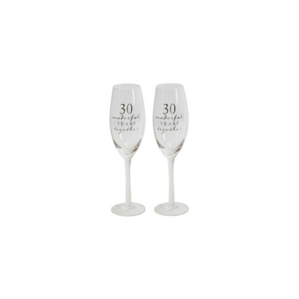 30th Anniversary Amore Champagne Flutes (Set of 2)