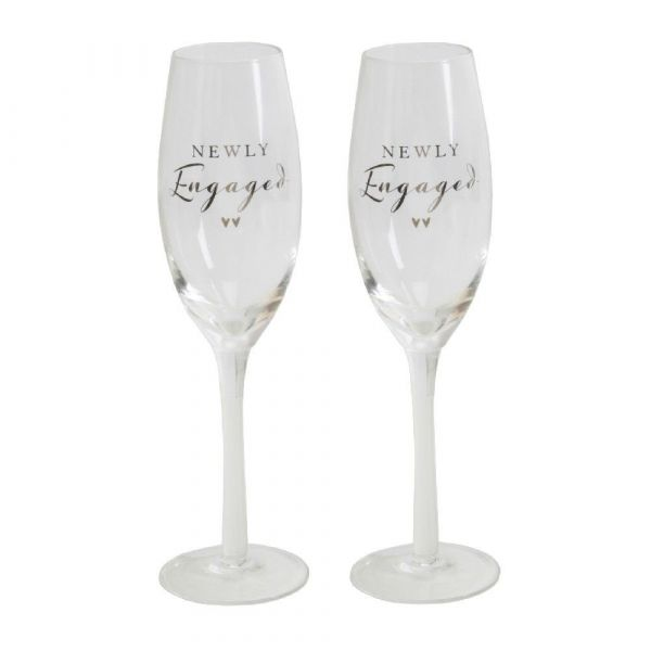 Engagement Amore Champagne Flutes (Set of 2)