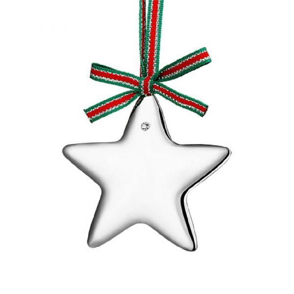 Newbridge Silver Silverplate Star with Clear Stone