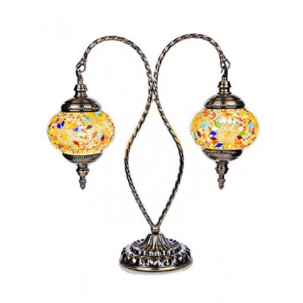 Mosaic Twin Table Lamp 46cm