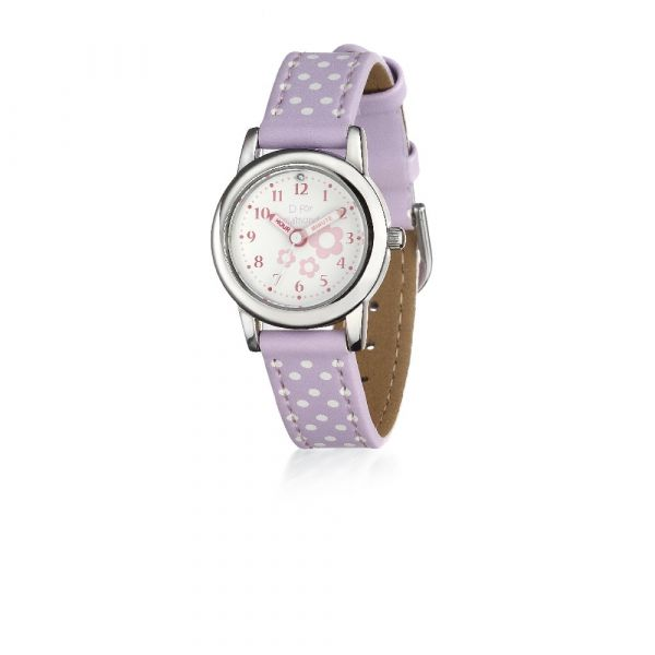 D For Diamond Watch With Lilac Strap